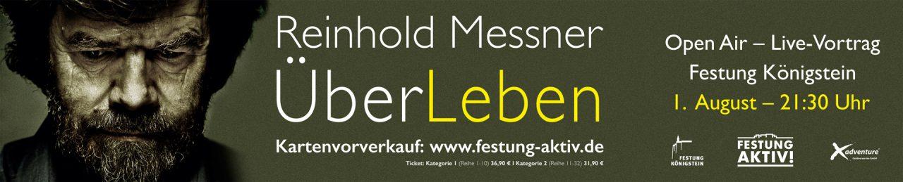 Banner zum Live-Vortrag Messners