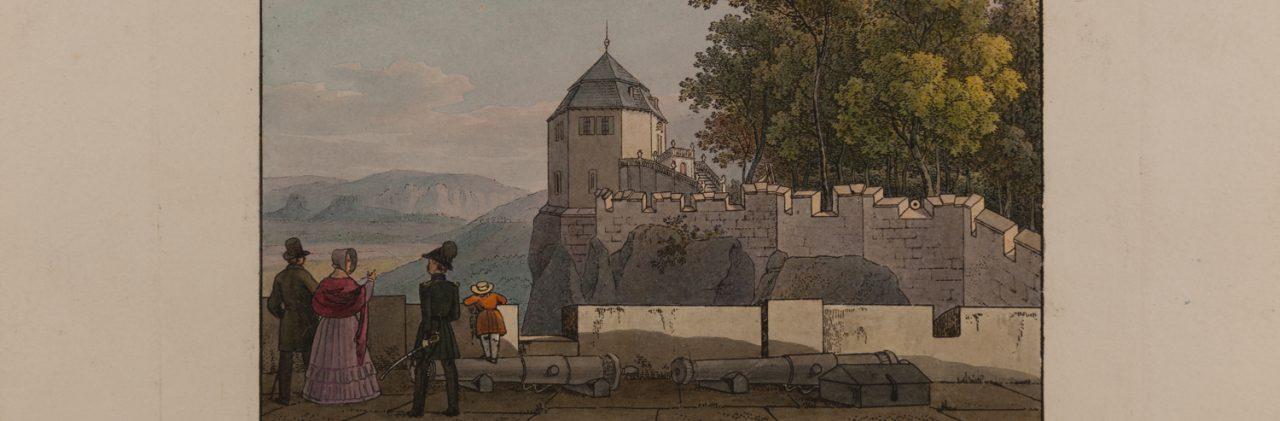 Die Friedrichsburg nebst Pagenbette auf der Festung Königstein