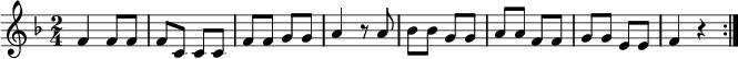 """Noten der Melodie """"Zehn kleine Negerlein"""""""