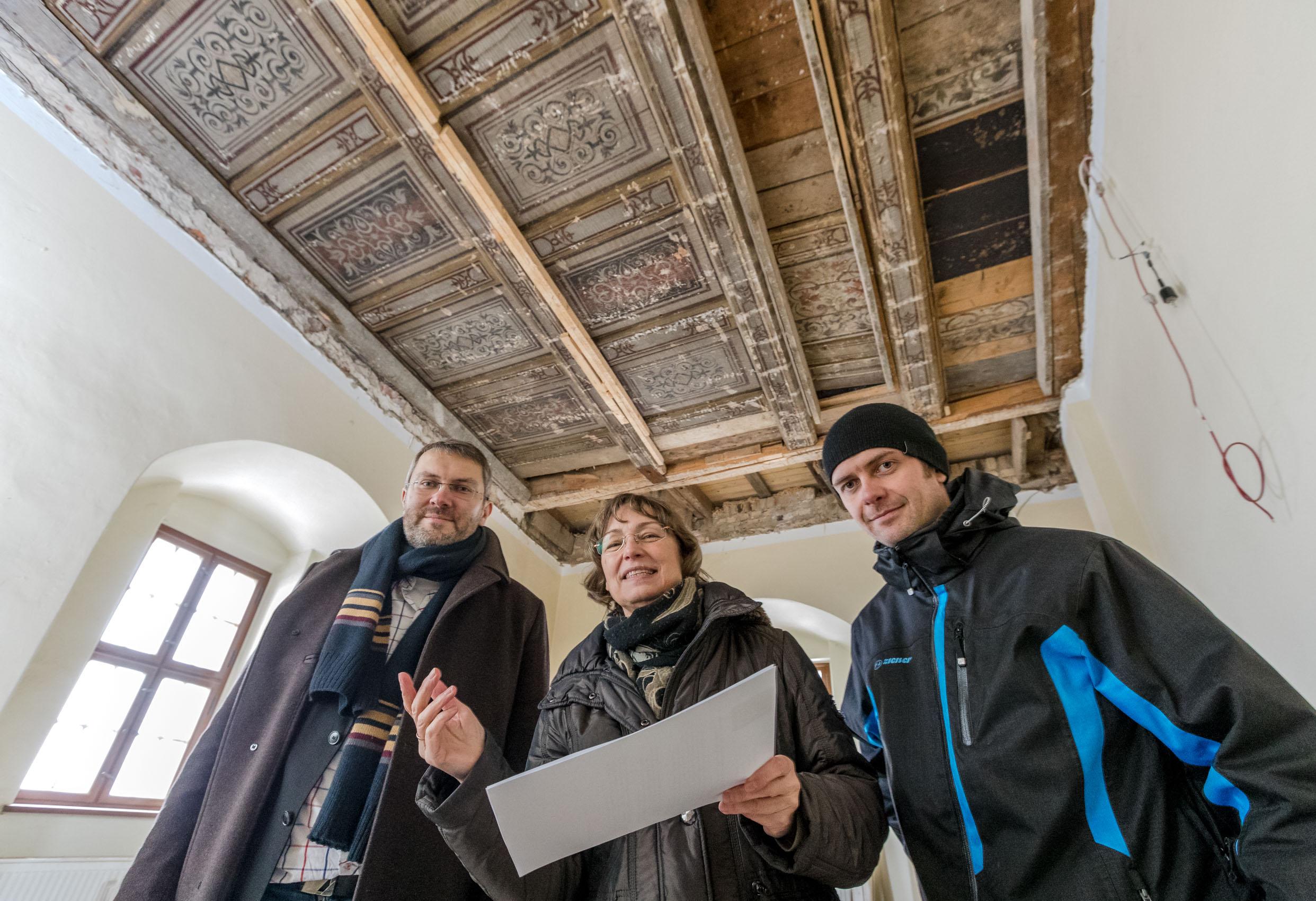 Renaissance-Kassettendecke in der Georgenburg