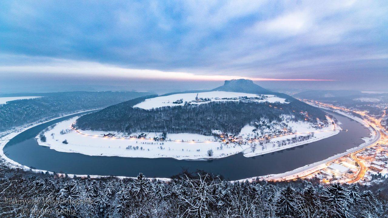 Panoramabild Elbbogen und Lilienstein