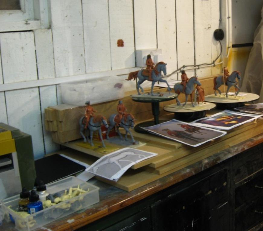 Mr. Wells' Werkstatt mit einigen Modellen.
