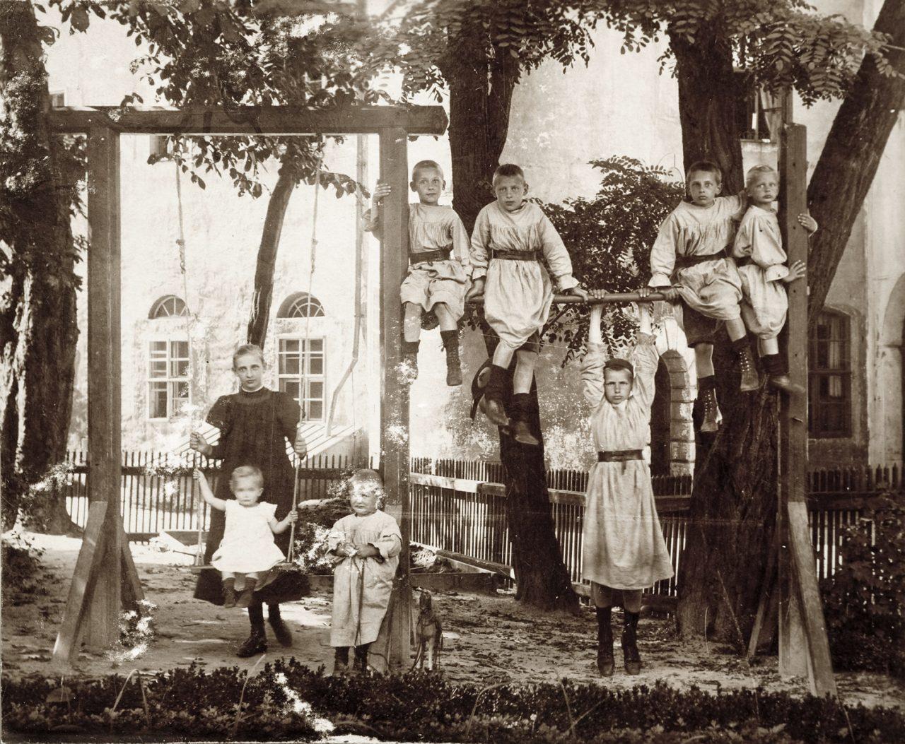 Foto der Kinder der Familie von Oer