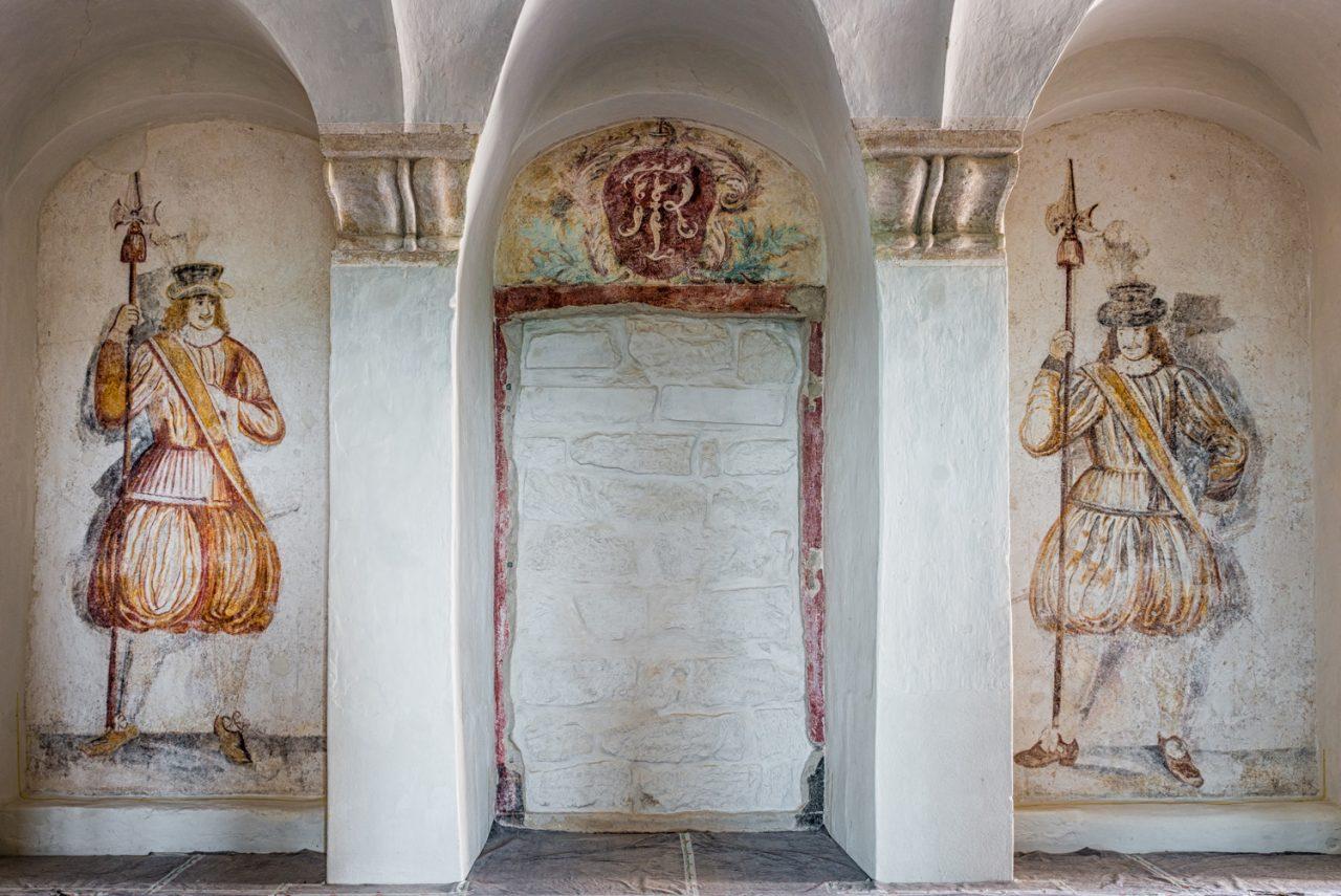 Wandgemälde in der Westbebauung der Festung Königstein