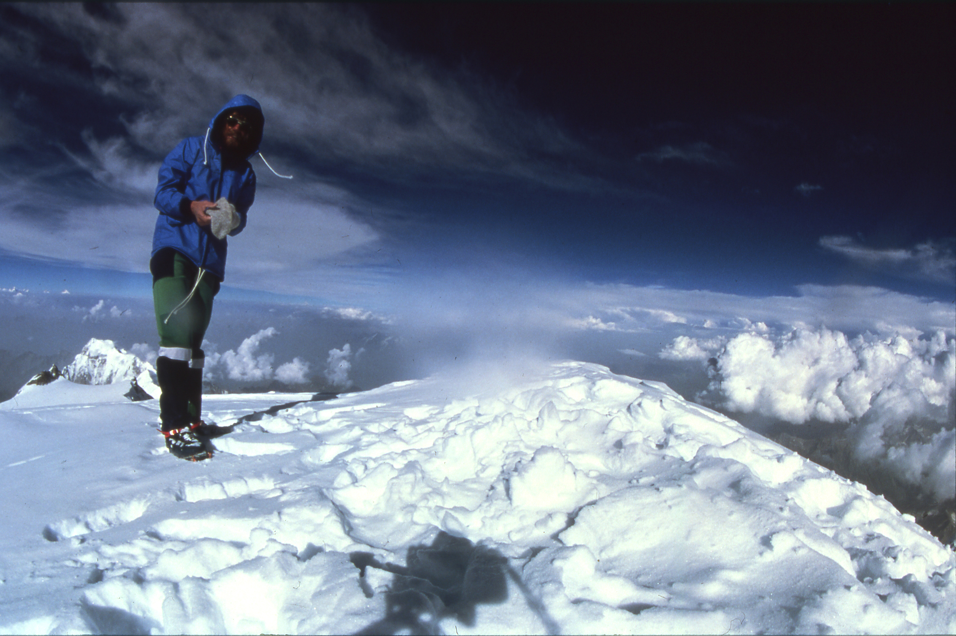Reinhold Messner 1978 auf dem Gipfel des Nanga Parbat