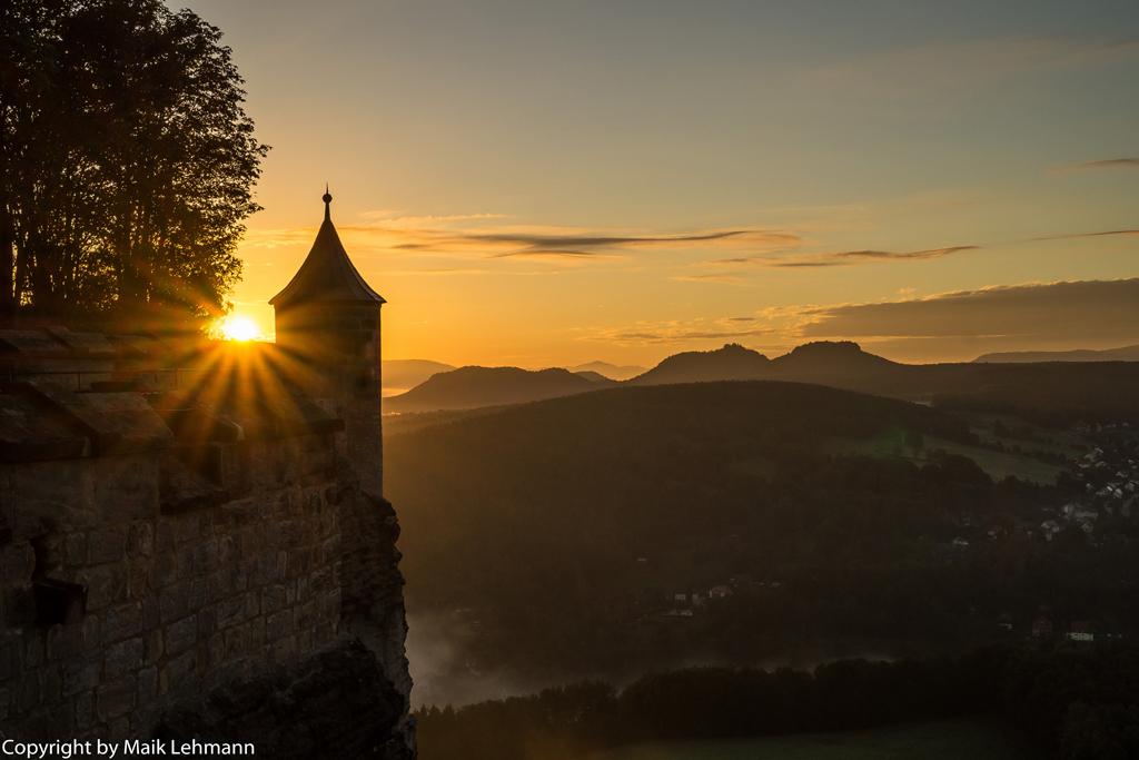 Wachturmausblick mit Sonnenaufgang