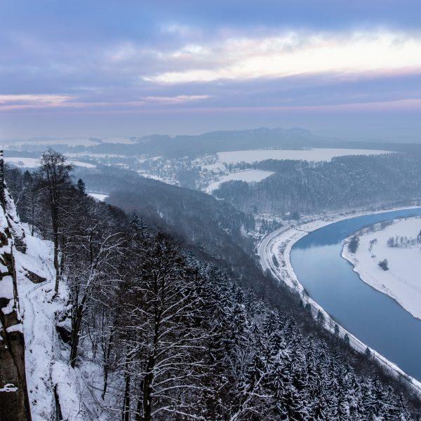 Friedrichsburg und Blick auf das Elbtal