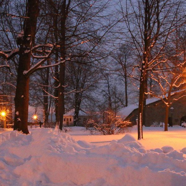 Pulverkasematte im Schnee