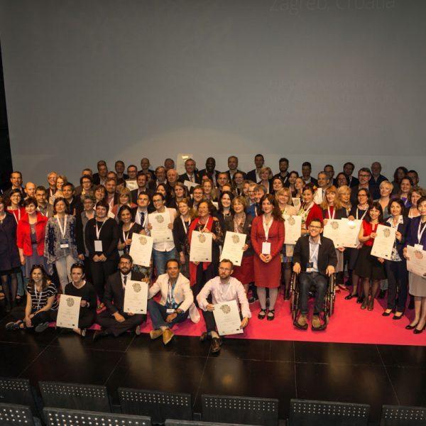 Gruppenfoto mit allen für den EMYA 2017 nominierten Teilnehmern